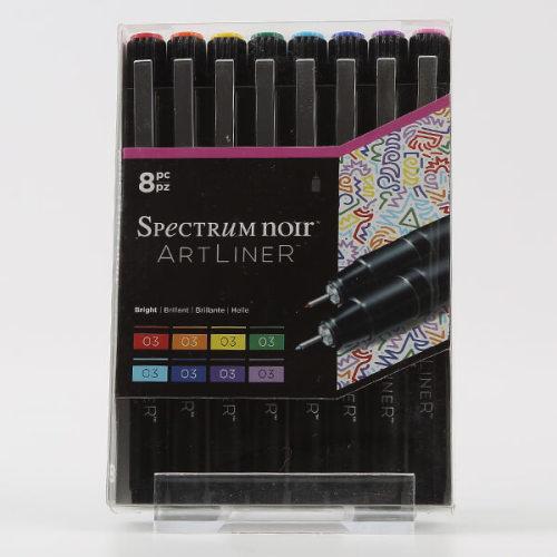Spectrum Noir Artliner 8 x Fine Liner Pens - Bright