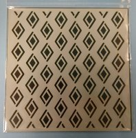 """Diamond Pattern 6x6"""" Stencil / Mask - Designed by Claire Newcombe"""