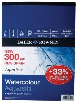 """Daler Rowney Aquafine Gummed Pad 12"""" x 9"""""""