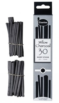 Coates Charcoal 30 Short Sticks