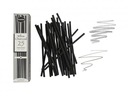 Coates Willow Charcoal - 25 thin sticks