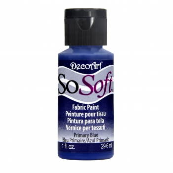 DecoArt SoSoft Fabric Paint - Primary Blue