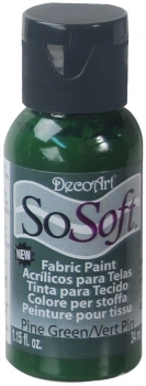 DecoArt SoSoft Fabric Paint - Pine Green