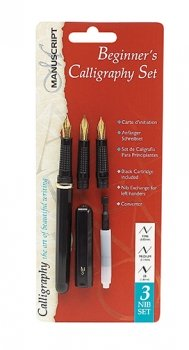 Manuscript 3 nib Beginners Calligraphy Set