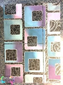 square stencil geometric stamps