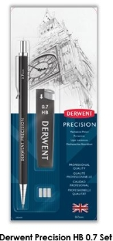 Derwent Mechanical Pencil 0.7HB blister set.
