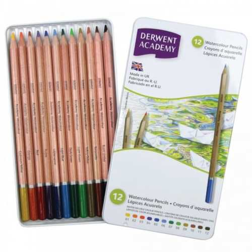 Academy Watercolour 12 Tin