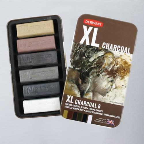 Derwent XL Charcoal Tin Set of 6