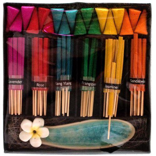 Rainbow Incense cone & stick gift set