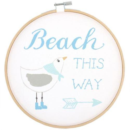 Beach this way hoop