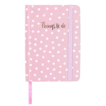 A6 Notebook - Pink with white spots