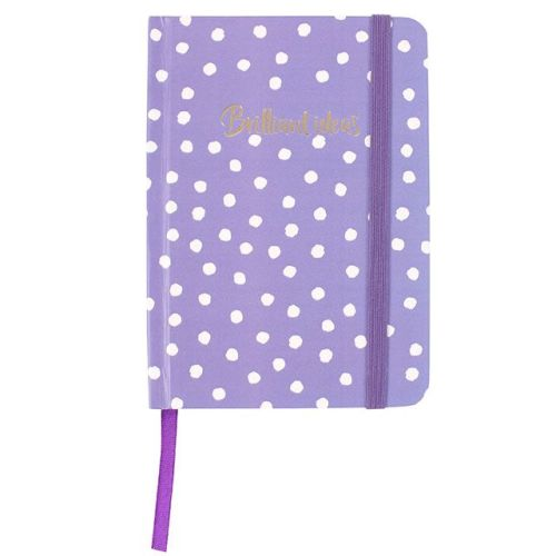 A6 Notebook - Purple with white spots