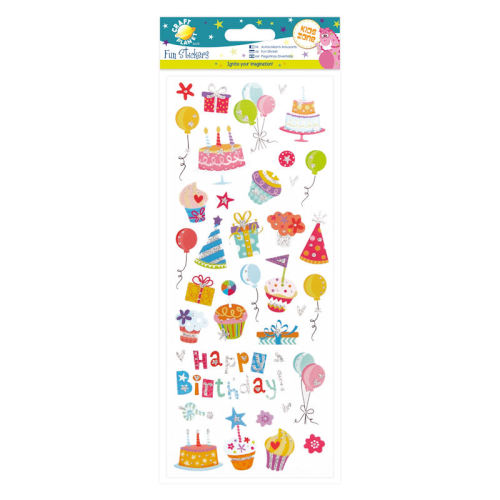 Fun Stickers - Glitzy Birthday