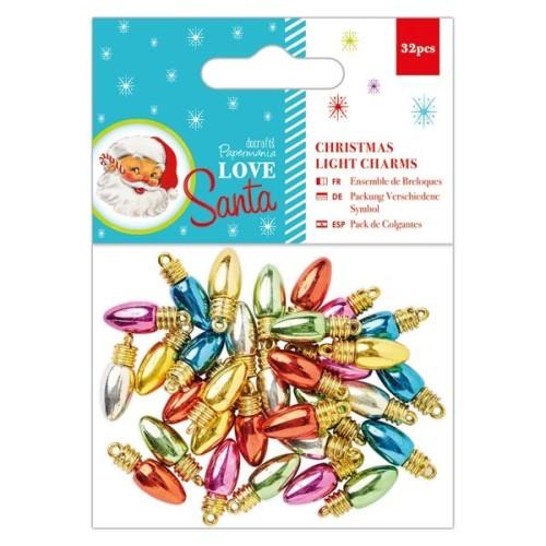 Papermania Love Santa Christmas Light Charms (32pcs)