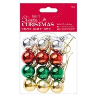 Docrafts Create Christmas Mini Baubles (12pk)