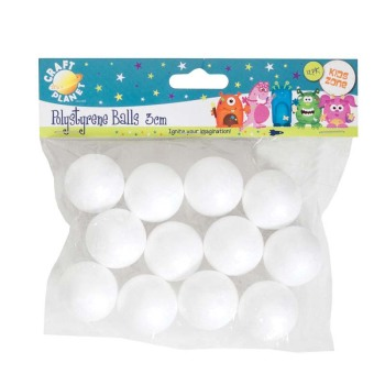 Craft Planet 3cm Polystyrene Balls (12pcs)