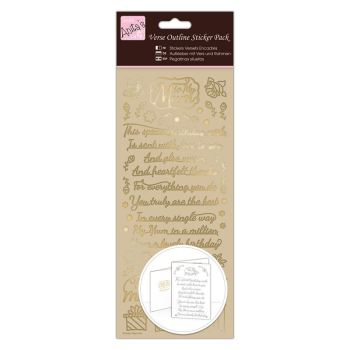 Outline Stickers - Verses - Mum - Gold
