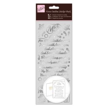 Outline Stickers - Verses - Mum - Silver