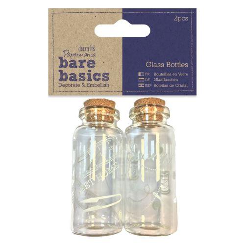 Glass Bottles (2pcs) - Home Sweet Home - Bare Basics