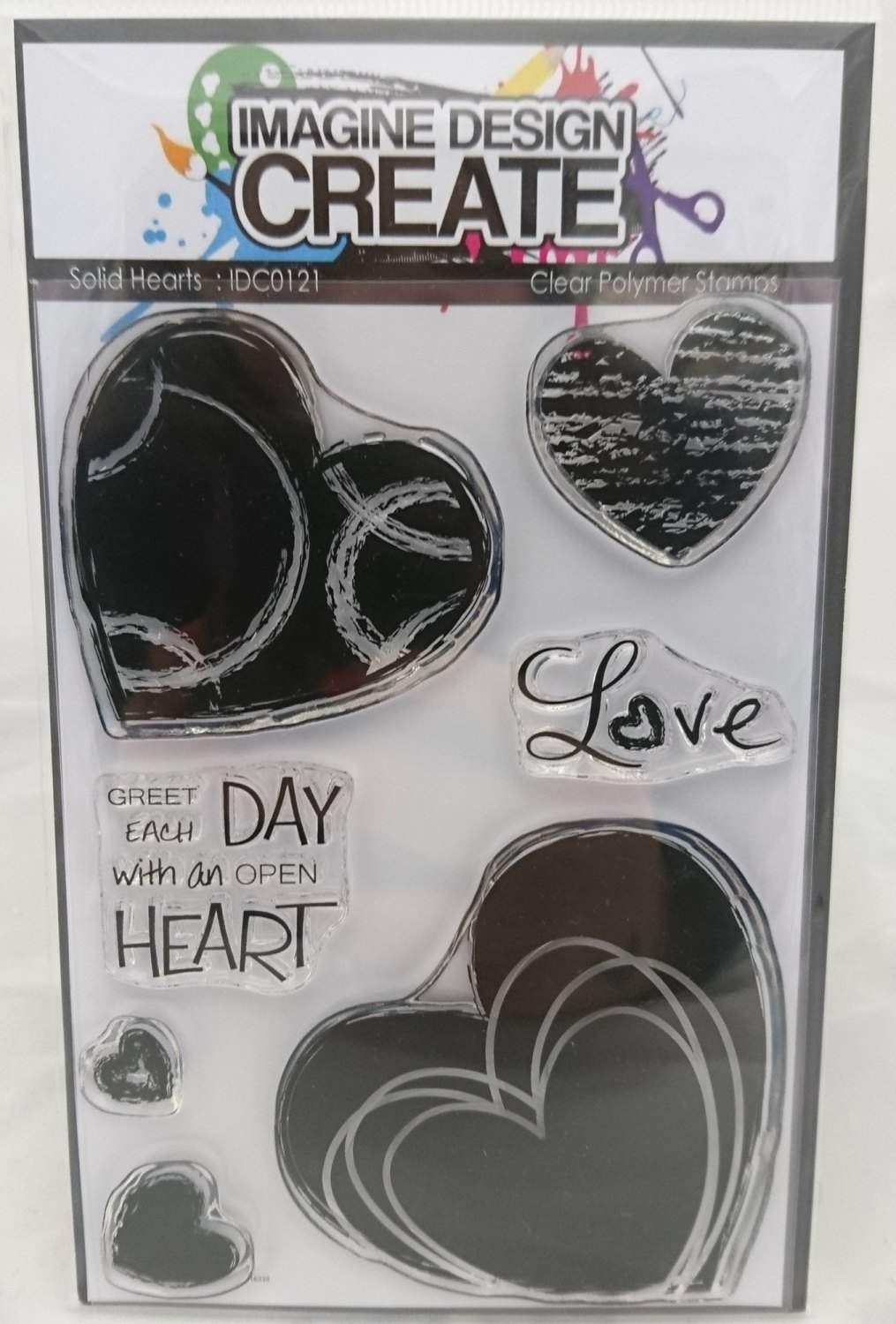 Solid Hearts : IDC0121 - A6 Stamp Set