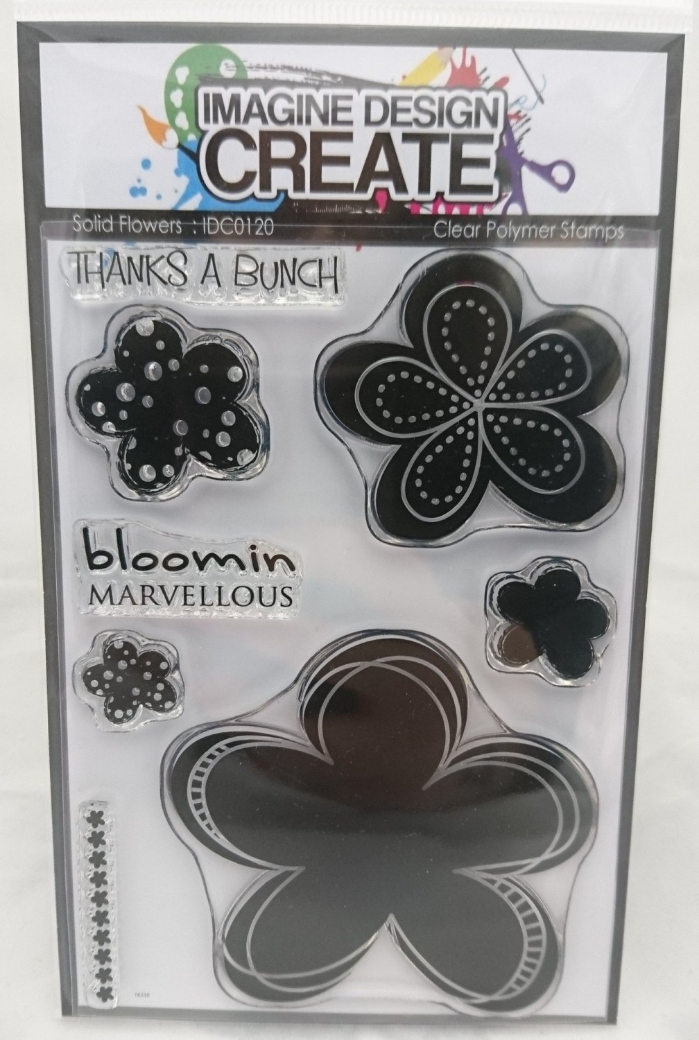 Solid Flowers : IDC0120 - A6 Stamp Set
