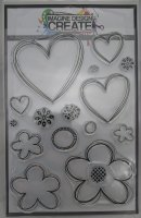 Nesting Hearts & Flowers : IDC0117 - A5 Stamp set