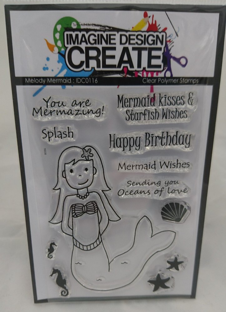 Melody Mermaid : IDC0116 - A7 stamp set
