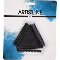 Rubber Texture Comb, size 9 cm, 1pc