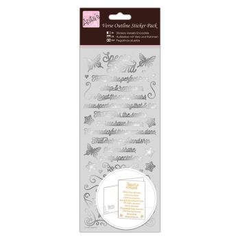 Outline Stickers - Verses - Special Friend - Silver