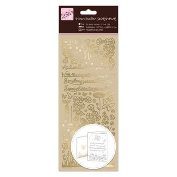 Outline Stickers - Verses - Get Well - Gold