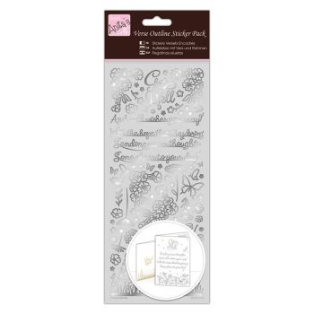 Outline Stickers - Verses - Get Well - Silver