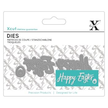 Mini Sentiment Die (3pcs) - Happy Easter