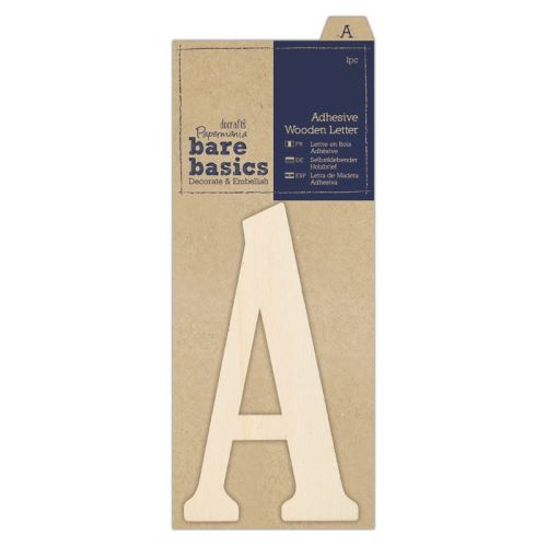 Adhesive Wooden Letter A (1pc)