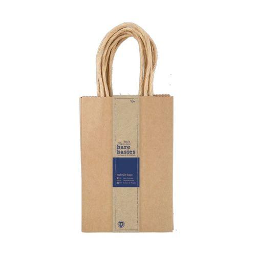 Kraft Gift Bags (5pk) - Small
