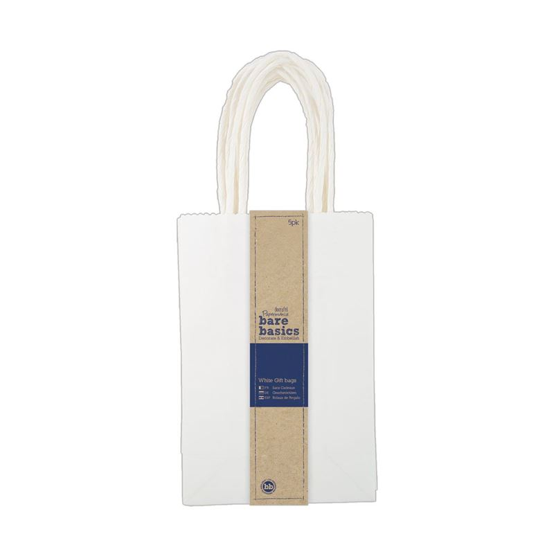 White Gift Bags (5pk) - Small