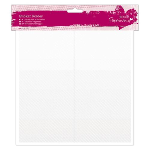 Sticker Folder (24 Sleeves/48 Compartments) - Clear