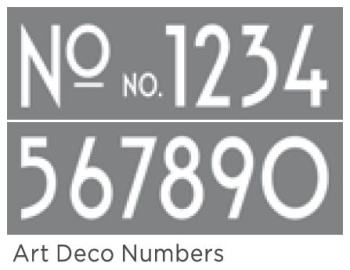 "Art Deco Numbers 6""x18"" 2 part Americana DECOR Stencil"