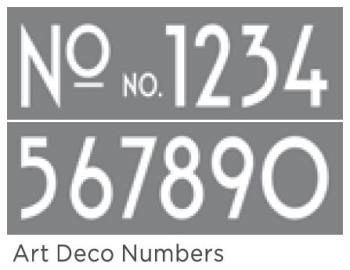 "Art Deco Numbers 6""x18"" 2 part Americana DECOR Stencil"