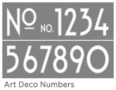 Art Deco Numbers 6