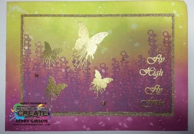 mini butterfly blot gold embossing