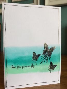 mini butterfly blot ombre