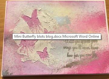 mini butterfly blot texture paste