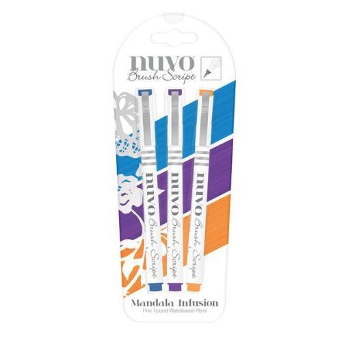 Nuvo Brush Script Pens - Mandala Infusion