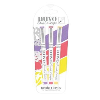 Nuvo Brush Script Pens - Bright Florals