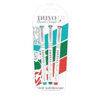 Nuvo Brush Script Pens - Vivid Kaleidoscope