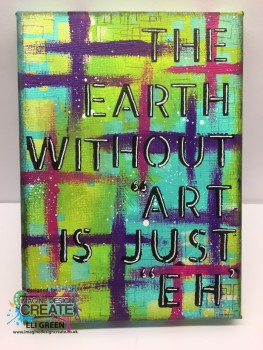 earth withour Art canvas