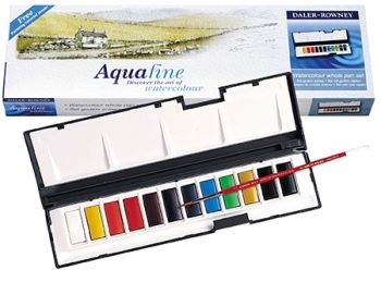 Daler Rowney Aquafine Watercolour Whole Pan Set