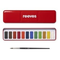 Reeves Red Watercolour tin 12 whole pans