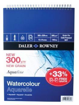 "Daler Rowney Aquafine Spiral Pad 10"" x 7"""