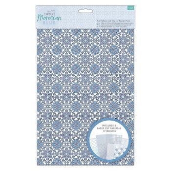 A4 Vellum and Laser Cut Paper Pack (16pk) - Capsule - Moroccan Blue